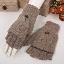 High quality knitted Ladies Mittens Warm Screen Touch Gloves
