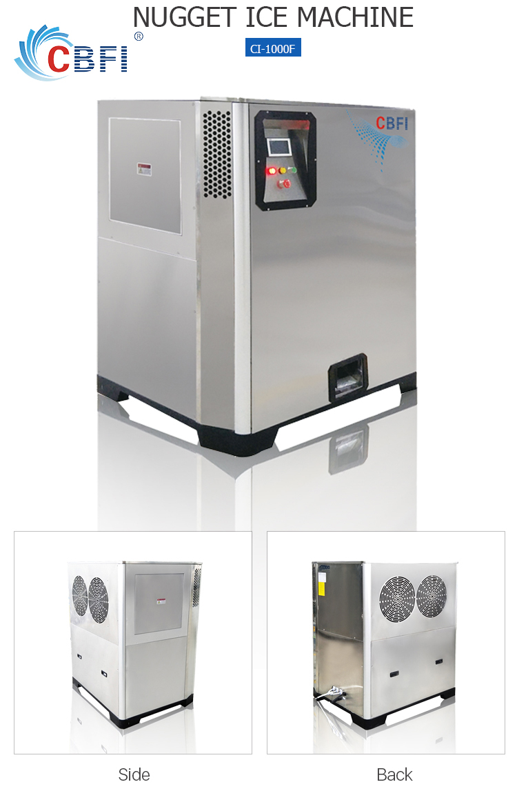 CBFI nugget ice maker machine factory price for ice bar-4