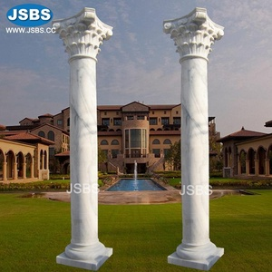 Top selling simply Elegant Round Wedding White Marble Pillar Stand
