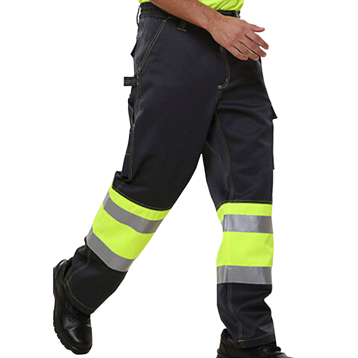 2017 Safety Clothing Men polyester cotton Work wear Trousers Cargo Pant with Hi Vis Tapes