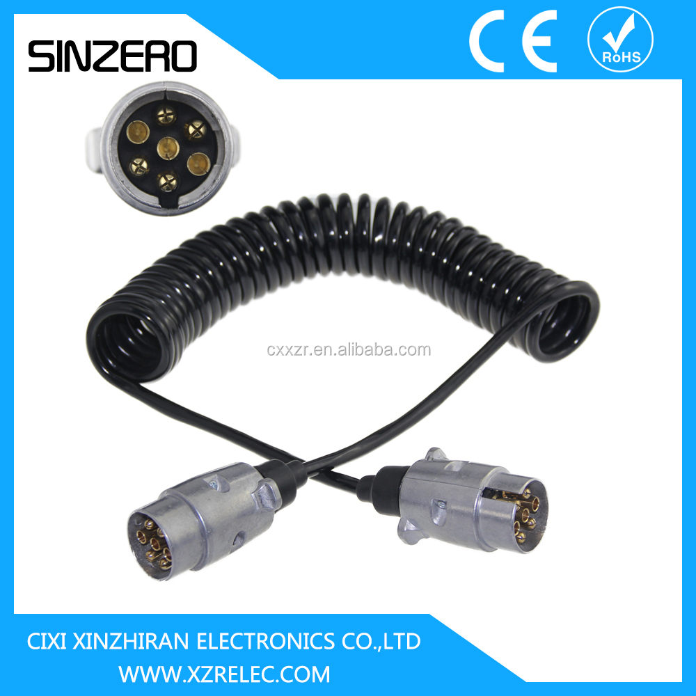 Trailer Coiled Electrical Cables : European australia car accessories and trailer parts