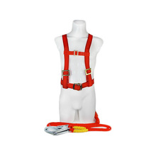 Classic 45mm polyester 및 pp material 합금 강 construction 풀 몸 및 반 몸 safety harness, safety belt, 풀 몸,