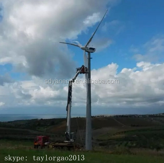 Yaneng new wind turbine 50kw direct drive, low rpm