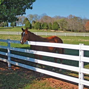 Fentech Easily Assembled High tensile LDPE electric flexible horse rail fence