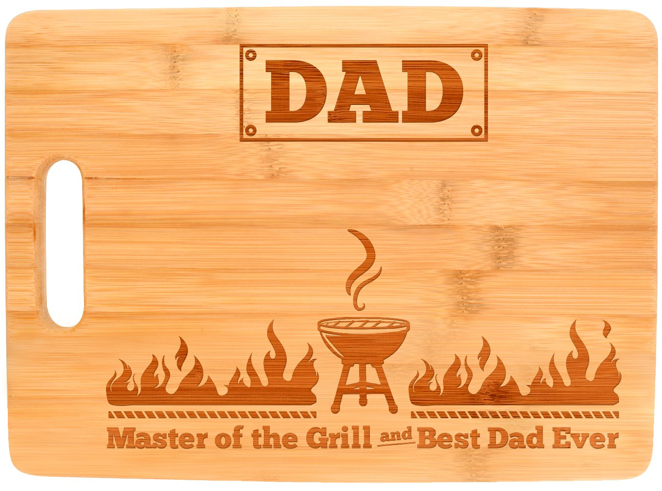Buy Fathers Day Gifts For Dad Master Of The Grill Father Birthday Unique Big Rectangle Bamboo Cutting Board In