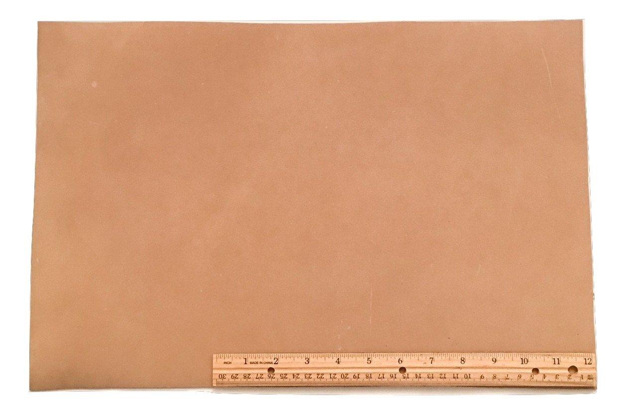"Scrap Leather Piece, Medium Weight Boot Leather; Light Brown Desert Sand Cowhide 18"" X 12"""