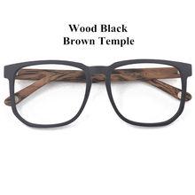 Posesion квадратные ацетаты большие мужские оправы для очков винтажные деревянные большие очки для лица женские очки для близоруких оптически...(Китай)