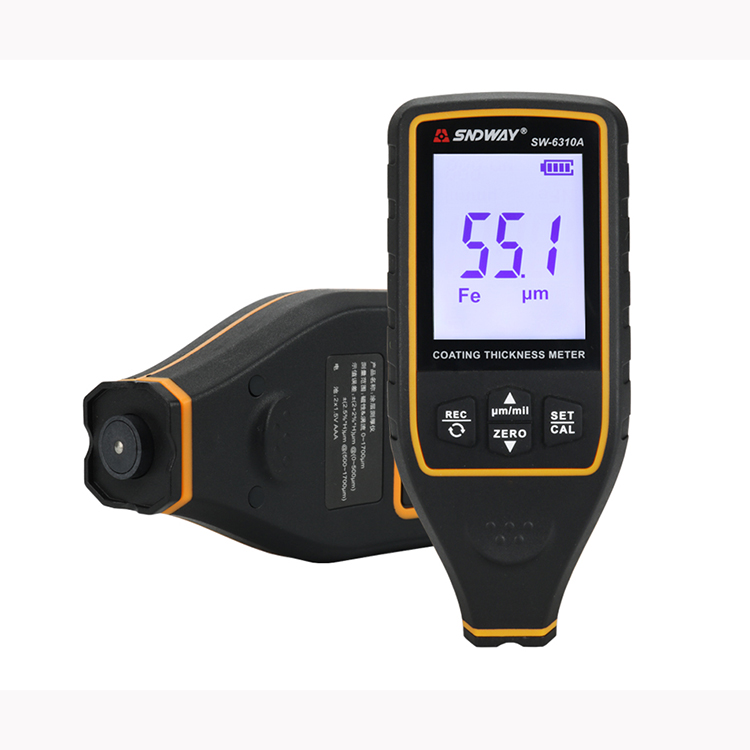 SW-6310A Medidor de espesor de recubrimiento digital Herramienta de medici/ón del probador de espesor de coche Medidor de espesor de pintura de coche