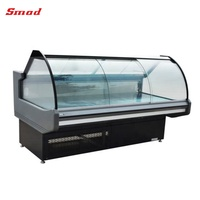 supermarket glass cold food display showcase refrigerator for sale