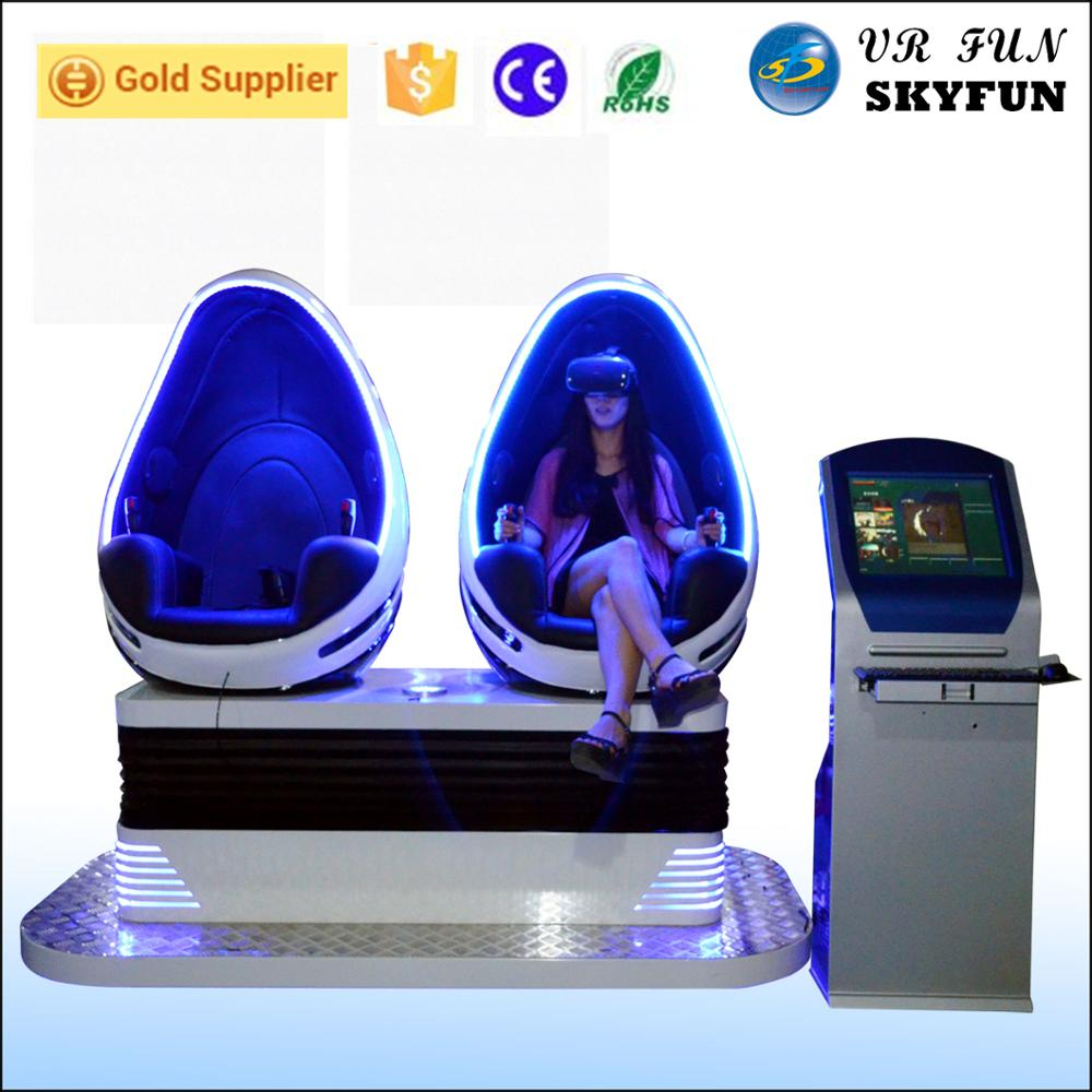Skyfun virtual reality 9d egg vr 9d cinema motion chairs with 2 seats 9d vr