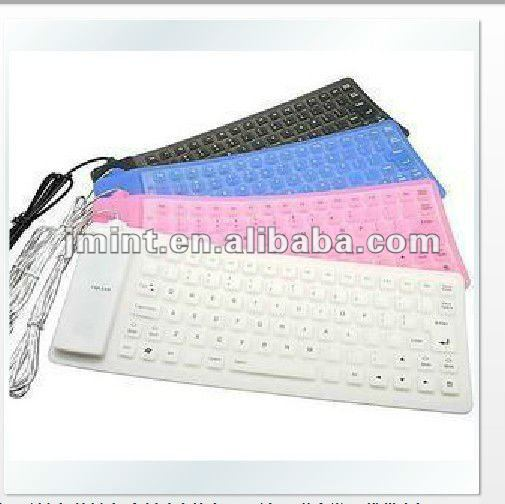 roll-up wireless Durable Silicon Keyboard for ipad