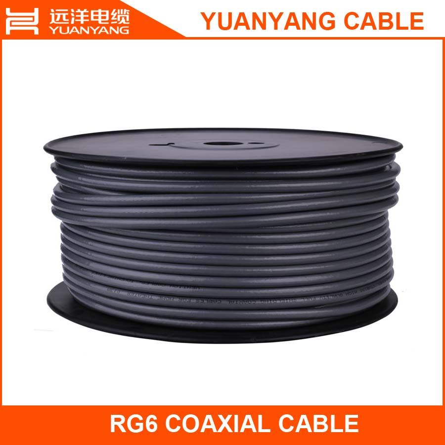 RG6 TV antenna cable for camera surveillance 96 braiding coaxial cable with 80% coverage in good transmission best pvc quality