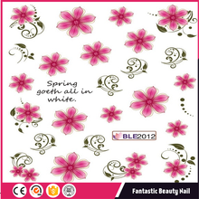 Charming Colorful Flower and butterfly Pattern Water Nail Tattoo Transfer Nail Sticker
