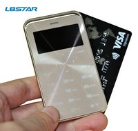 GS6 Unlocked Bluetooth Ultra-thin Credit Card Size Small Basic Mobile Phone