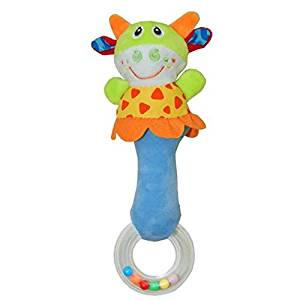Wingingkids Baby Rattle Toy Soft Animal Plush Toy Baby Toy Gift Multi Colors Ox