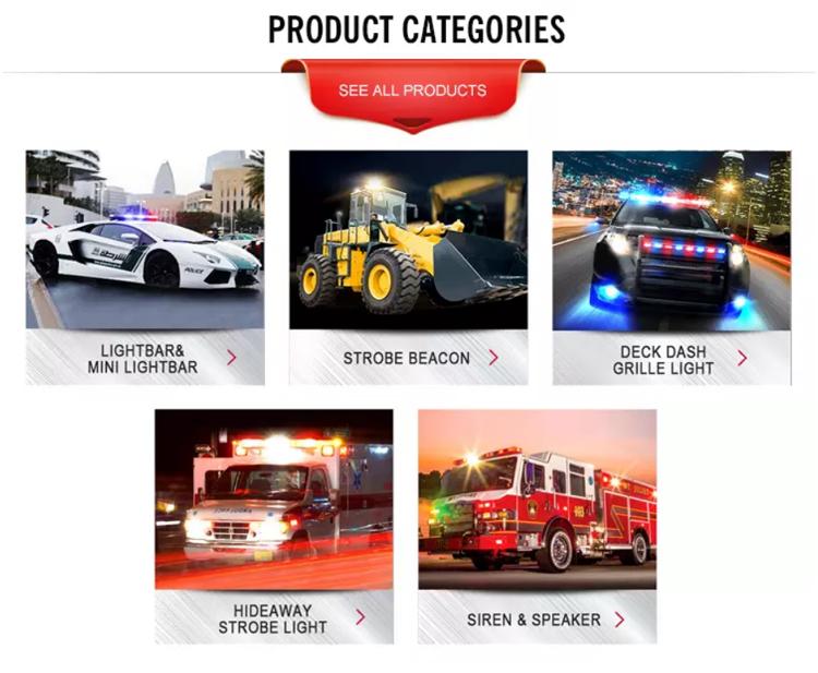 รถบรรทุก 12V Mini Amber ไฟเตือน Led Strobe Light