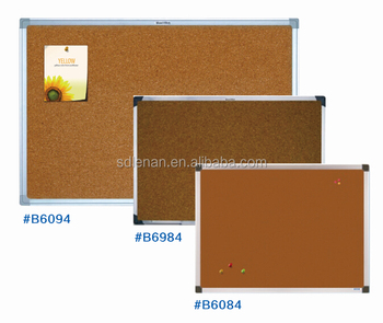 Custom Size Office Notice Board Wooden Surface With Aluminium Frame Plastic  ABS Corners Wall Cork Bulletin