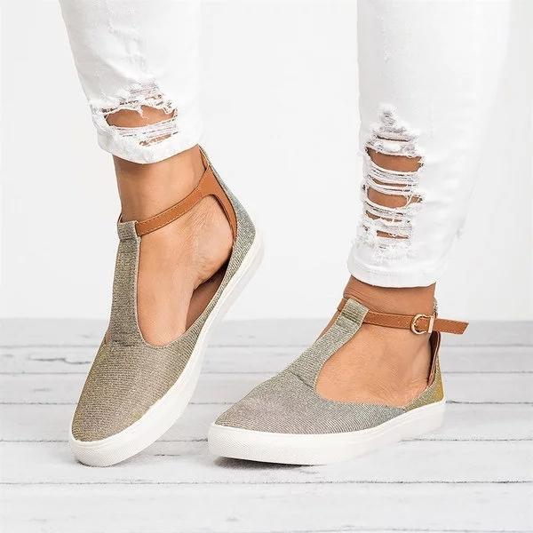 Calzado De Talla Grande Zapatos Planos Informales De Cuero Con Hebilla Para Mujer Buy Zapatos De Mujer,Zapatos Informales Para Mujer,Zapatos Planos