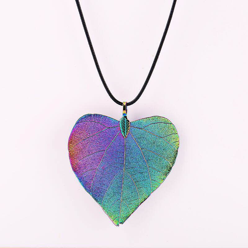 Gifts 24k gold natural Leaf free shipping The iridescence heart <strong>pendant</strong> online white gold <strong>pendant</strong>