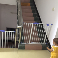 Adjustable Metal Door Guardrail security baby the infant child products baby home safety