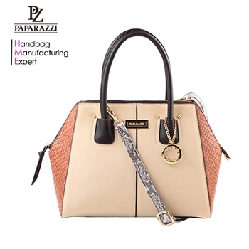 5872 China Supplier New Products PU Leather Tote Bag Shoulder Bag Snake  Texture Woman Handbag 2018 7ae9289810060