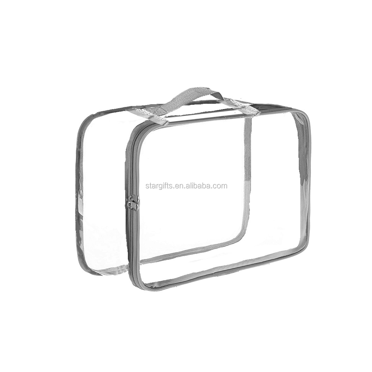 2019 Fashion Clear PVC Luggage Organizer Water-proof Custom Vinyl Transparent Packing Cubes