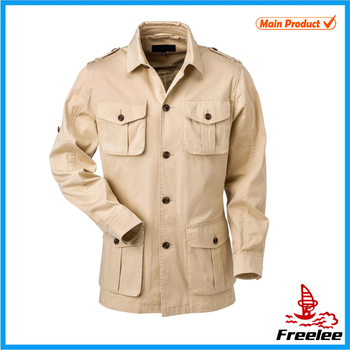 Men Khaki Jacket Spring Safari Jacket