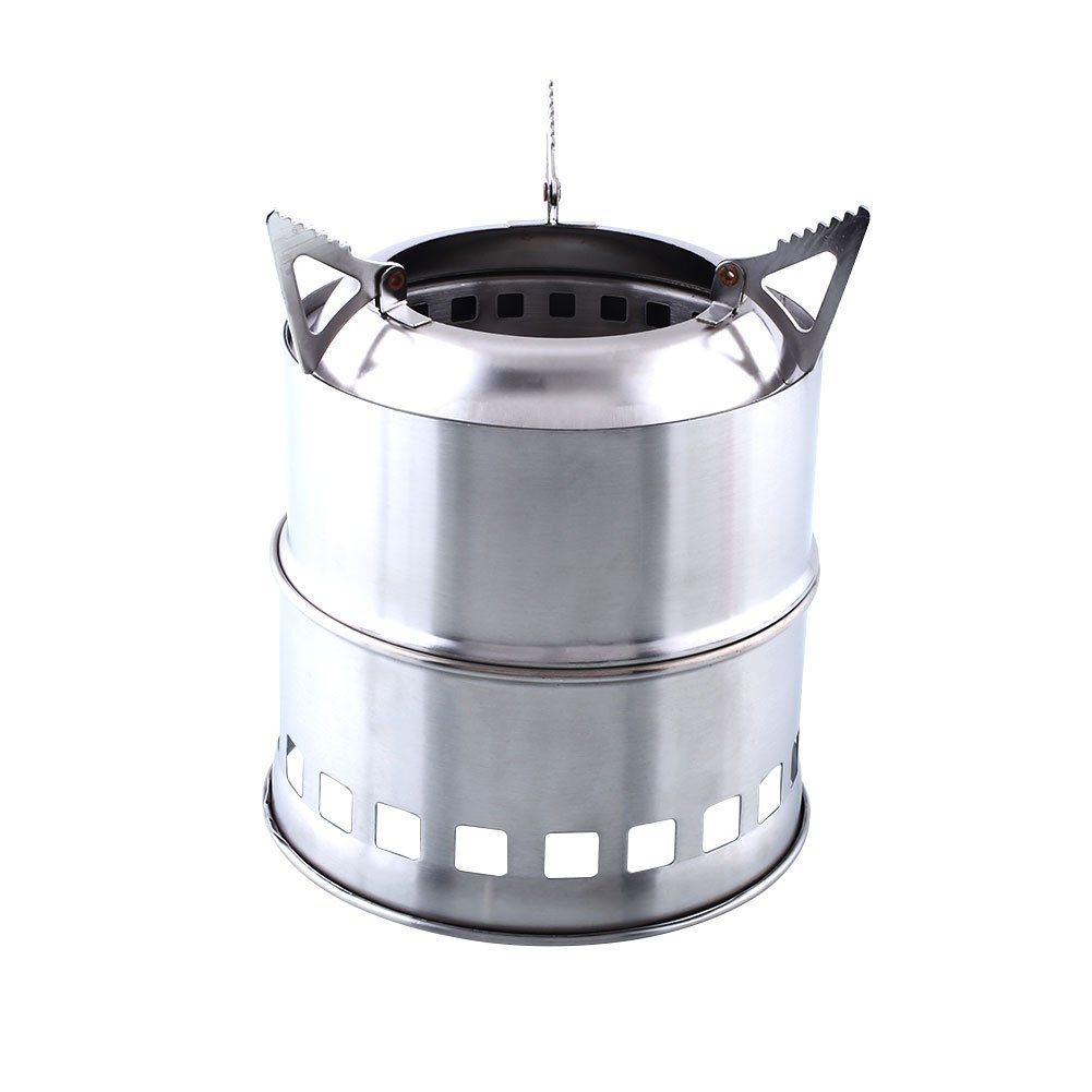 Livo Store Potable Stainless Steel Wood Burning Camping Stove