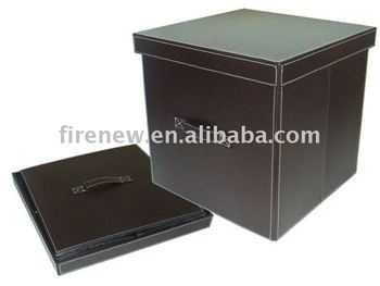 Amazing Leather Storage Foldable Box