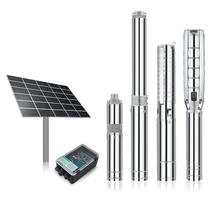 ALL IN ONE LED SOLAR 4 inch 1.5hp submersible pump deep well 220v with control box low price best service