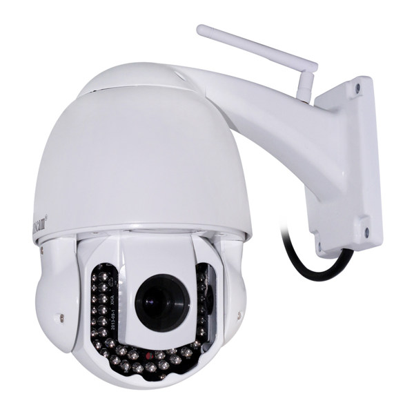 Outdoor security camera drone with camera