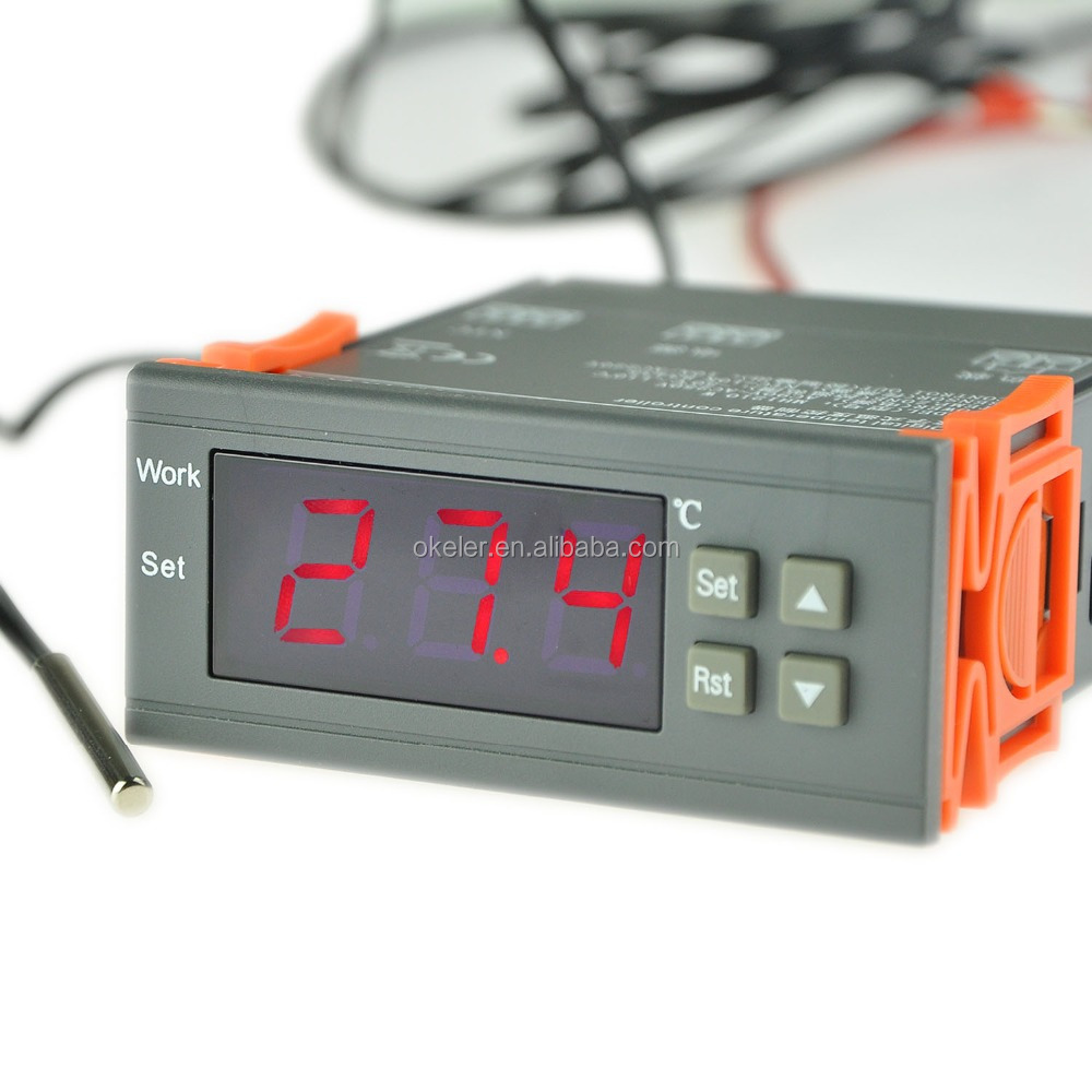 90-250V PID Digital Temperature Controller with Thermostat Sensor