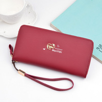 High Quality Tianqin Japanese Style Long Women Metal Heart Design Wristband Wallet