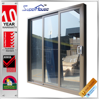 Australia AS2047 standard commercial system double glass doric hardware lowes patio sliding door manufacturers