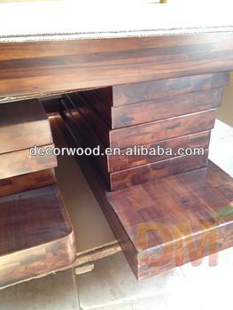 Thick Custom Made Acacia Walnut Wood Stair Tread Wholesale