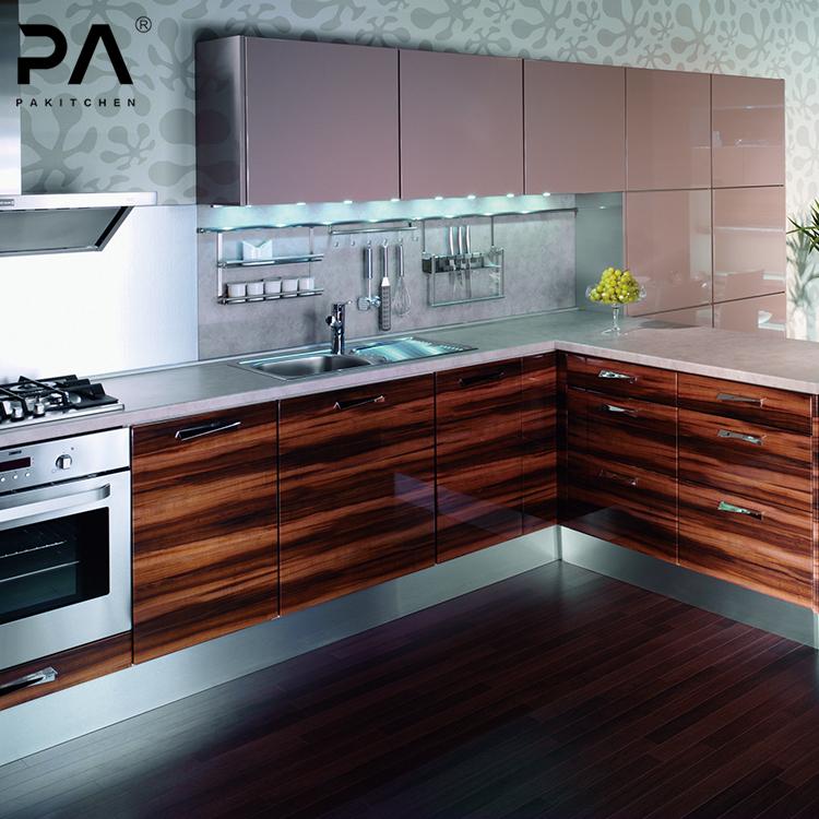 L Shaped Modular Kitchen Design Kitchen Cabinets Solid Wood Kitchen