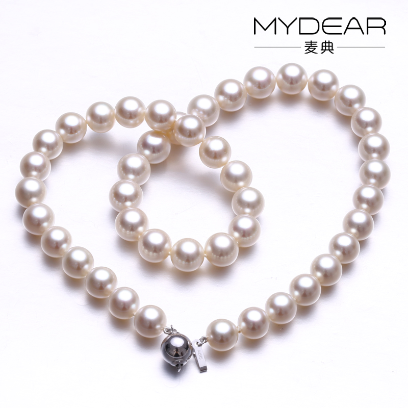 Japan AKOYA pearl necklace/ 9-10.5mm seawater pearl with bright light high cost performance