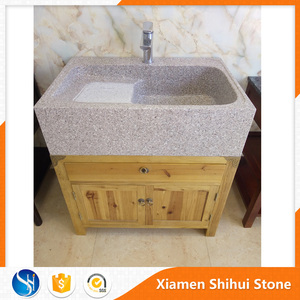 Whole Design One Piece Bathroom Sink and Countertop