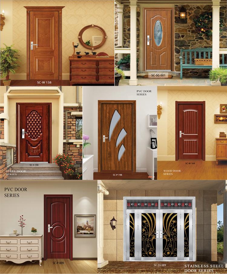 Sc W053 Simple Indian Natural Teak Wood Door Designs Latest Design Wooden Main