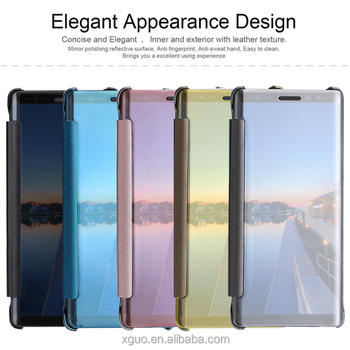 sports shoes f39ae 3e4c2 X-guo Flip Cover For Samsung Galaxy Note 8 Smart Clear View Cases Note 8  Electroplating Mirror Case - Buy Note 8 Clear View Case,Note 8  Electroplating ...