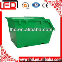 Grass Metal Waste Container With Spray Paint
