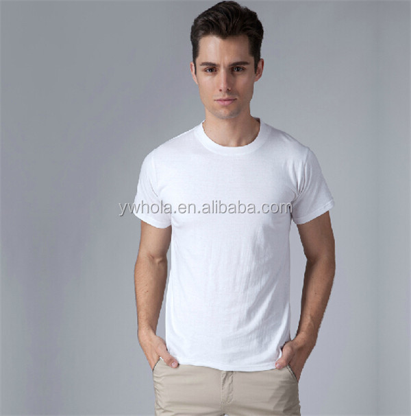 Wholesale Simple Round Collar 100% Cotton Men T-shirt