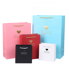 Hot popular laminated art paperbags for valentine's days/promotional gift bag