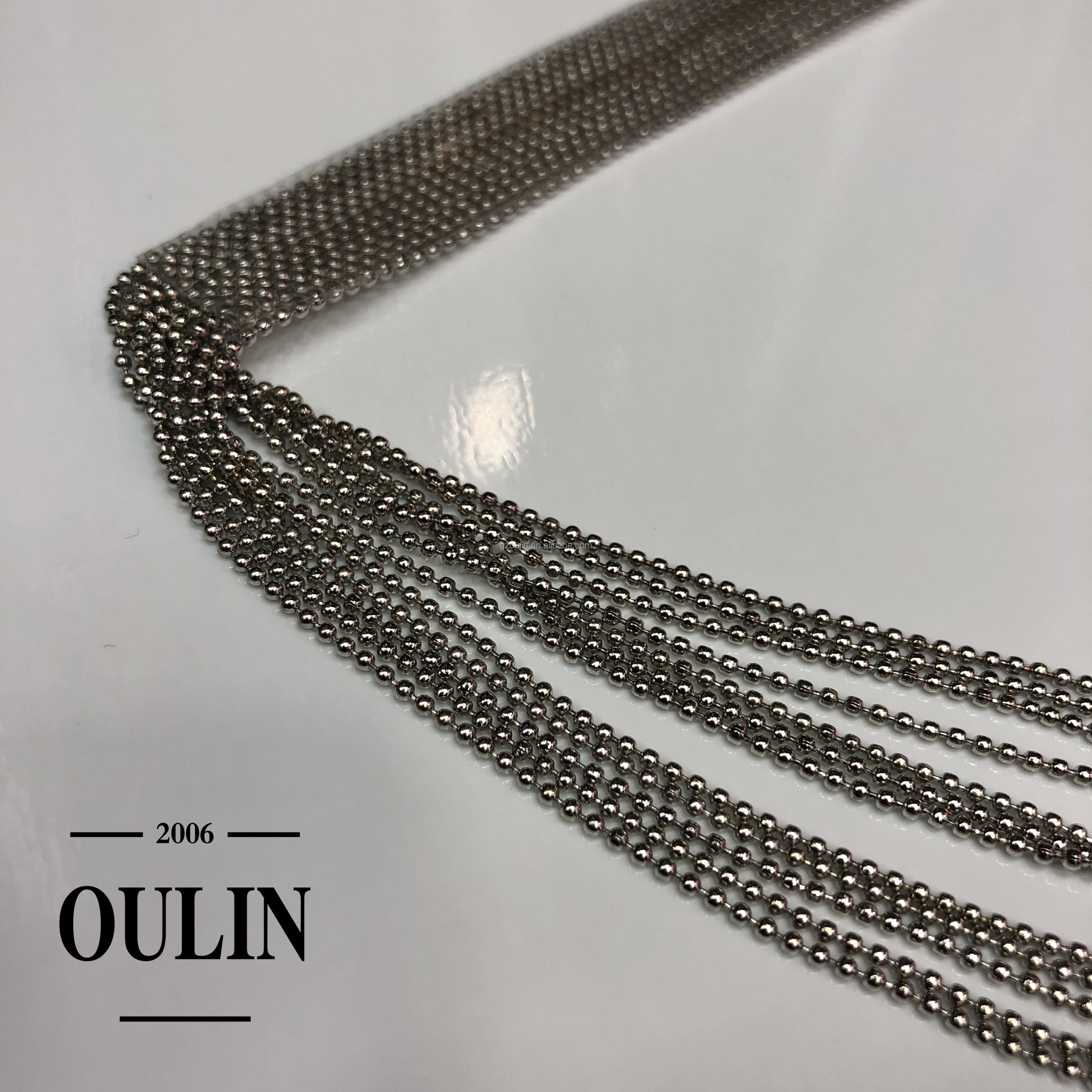 2019 new coming designs ball chain fringes can be customized any other sizes ball chain tassels garment accessory