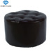 wholesale Antique wooden Sofa bed footrest foot bar stool leather ottoman pouf shoes changing stool