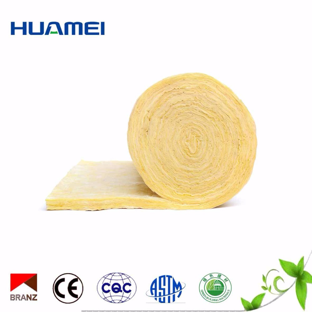 Sound-absorptive fiberglass wool material heavy glass wool blanket