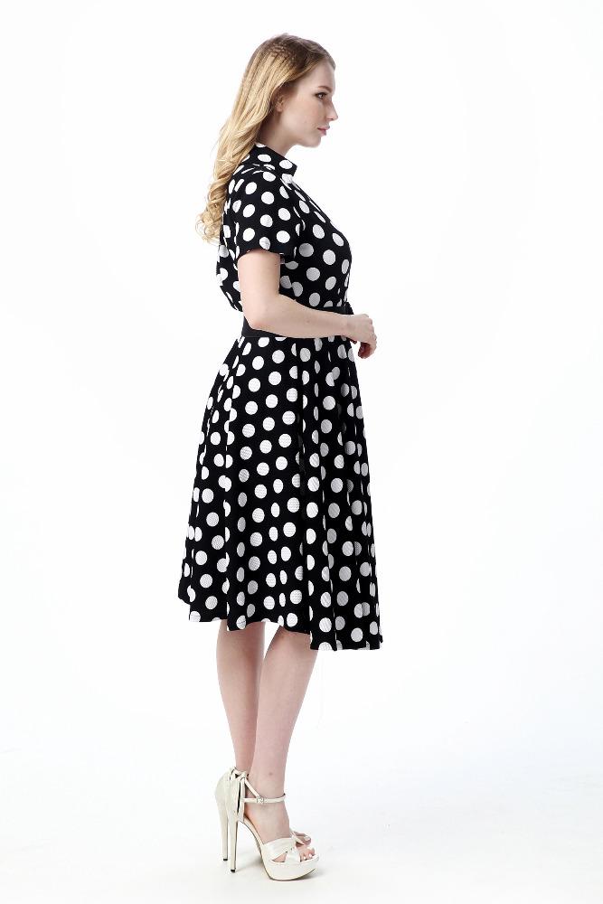 Платье в горошек офисное