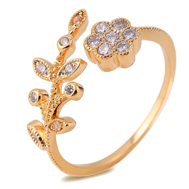 Fashion Real 18K Gold Plated Created Diamond Fine Jewelry ...