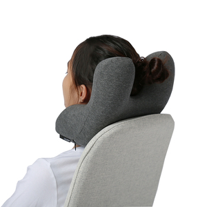Custom Personalised Eco Friendly Office Car Memory Foam Neck Support Pillow Scarf Wrap Travel Pillow