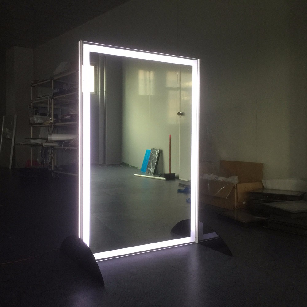 Hair cutting mirror with led light make up mirror buy for Beauty salon mirrors with lights